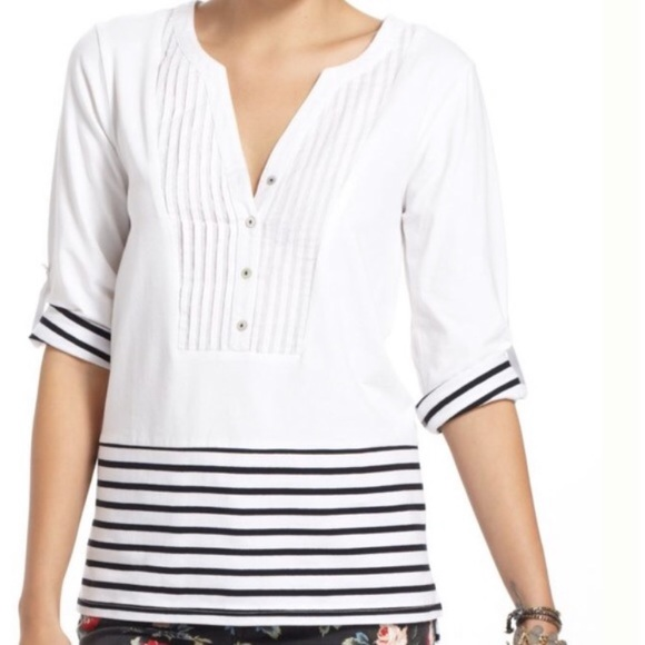 Anthropologie Tops - NWT Anthropologie Stowaway Plated Henley